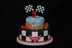 Cars themed birthday cake.
