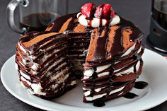 Chocolate Pancake Cake.  This looks sinfully delicious!  Got to try it soon..... ;D