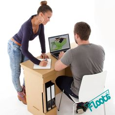 Brown Cardboard #Desk perfect for the home office, student halls, bedroom or playroom.