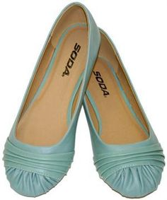 Blue ballet flats. They're vegan, too, which is pretty cool. a-close-approximation-of-style