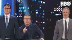 Stephen Colbert and John Oliver Interrupt Jon Stewart's Opener During 'Night Of Too Many Stars'