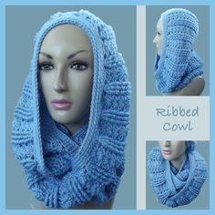 Ribbed Cowl ~ free pattern