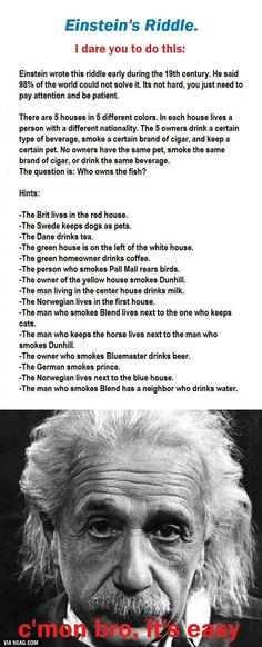 Einstein's Riddle