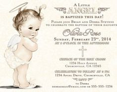 9 best baptism invitations images on pinterest baptism invitation
