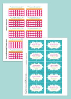 babysitting cards templates