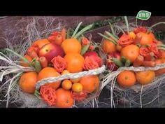 Букет к 1 сентября. - YouTube Art Floral, Food Gifts, Gift Baskets, Bouquet, Decorations, Fruit, Vegetables, Flowers, Falling Down