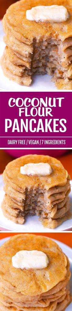 Soft, fluffy, easy coconut flour pancakes