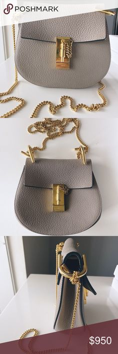 Chloe Mini Drew Excellent condition in color Motley Grey Chloe Bags Shoulder Bags