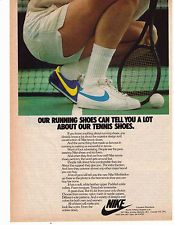 "Classic NIKE ""Wimbledon"" Tennis Shoe Print Advertisement"