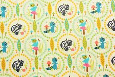 Riley Blake / Woodland Trails / Sheri Berry Design / Cotton Fabric / Cute Animals / Crafting Quilting Sewing Supply / Half Metre by TwoChubbyRabbits on Etsy