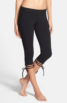 Free shipping and returns on Solow Lace-Up Capri Leggings at Nordstrom.com. With a nod toward ballerina dancewear, stretch-infused cotton capris finish with ribbons wrapping around each calf and tied off into charming bows.