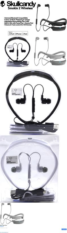 electronics: New Skullcandy Smokin Buds 2 Wireless Bluetooth Earphones With Mic Black White BUY IT NOW ONLY: $35.97 #priceabateelectronics OR #priceabate