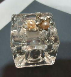 Aretes plata 925 y perlas rosas