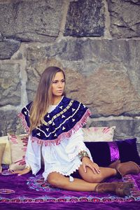 The Boho Poncho Blue