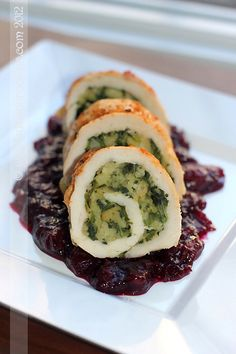 Thanksgiving turkey roulades with 5-Minute stuffing