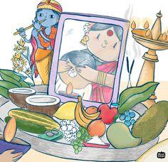 Dream Illustration, Indian Illustration, Rangoli Painting, Indian Patterns, Relatable Posts, Krishna, Celebrations, Doodles, Paintings