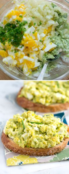 This egg salad combines two of our favorite things: eggs and avocado. In addition to the avocado, we add a little mayonnaise for moisture, celery for crunch, fresh herbs and a small amount of lemon juice to brighten things up. From inspiredtaste.net | @inspiredtaste