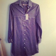 Chambray shirt dress available at KB Kasuals