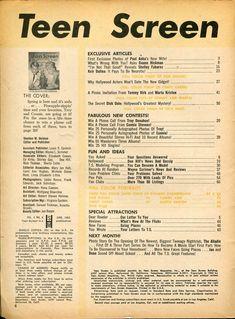 Teen Screen Magazine June 1963- Troy Donahue- Connie Stevens- Paul Anka   eBay