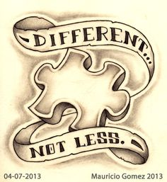 """""""Different...Not Less"""" Sketch-A-Day from 04-07-2013 Copyright © 2013 Mauricio Gomez"""