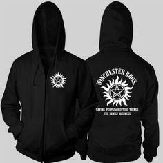 Supernatural hoodie for men anti possession The Winchester Bros sweatshirt