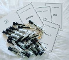 Samples samples samples  A gardner needs a spade A hairdresser needs scissors and a perfume consultant needs fragrance samples.  We all need to invest in our businesses no matter what industry and that includes investing in ourselves through purchasing additional marketing materials time to train and learn oir craft and self development reading and training  Help yourself succeed for the future... no-one else can do it for you.  Use the tools available  and show off ypur skills.... then the magi Fm Cosmetics, Cosmetics & Perfume, Fragrance Samples, Perfume Samples, Cheap Fragrance, Perfume Quotes, Love Your Skin, Body Love, After Shave
