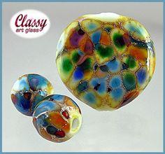 GJCG Glitter Trio-1412AF  | ClassyArtGlass - Jewelry on ArtFire