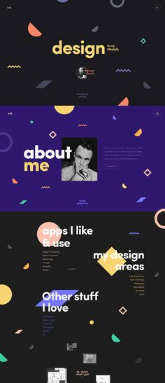 파티클 - Folio about me full