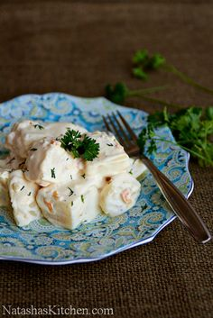 Potatoes in Alfredo Sauce