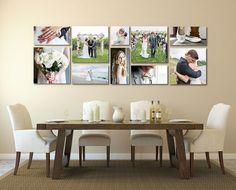 Wonderful Wedding Photo Wall Display 1000 Ideas About Displaying Wedding Photos . Wedding Canvas, Wedding Wall, Canvas Wedding Pictures, Canvas Photos, Wedding House, Wedding Picture Walls, Wedding Picture Collages, Canvas Display, Canvas Wall Collage