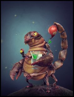 3D creative scorpion, Borislav Kechashki on ArtStation at https://www.artstation.com/artwork/nkDK