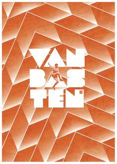 Heroes by Richard Debenham, via Behance  #soccer #poster #vanbasten