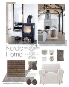 """""""Cozy natural home"""" by anna-lena-als ❤ liked on Polyvore featuring interior, interiors, interior design, home, home decor, interior decorating, CO, Sia, Allegra and Nordal"""