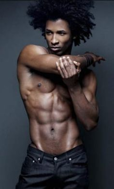 hot sexy black model with afro Black Man, Hot Black Guys, Hot Guys, Black Is Beautiful, Gorgeous Men, Beautiful Body, Black Male Models, Natural Man, Au Natural