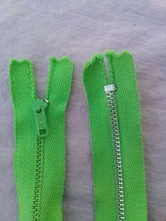 Vintage 1960s Metal Zipper Apple Green 22 Inch Murlen 2015375 - pinned by pin4etsy.com