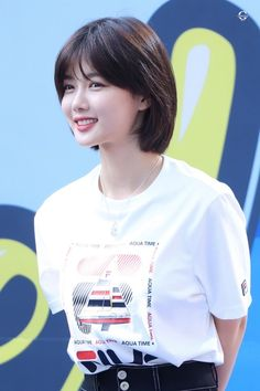 Pretty KIM YOO JUNG at Fila's AquaTime Event Yoo Jung is getting prettier and prettier day. Chic Short Hair, Short Hair Trends, Asian Short Hair, Girl Short Hair, Short Curly Hair, Short Hair Cuts, Kim Yu-jeong, Korean Short Haircut, Kim Joo Jung