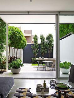 130 perfect small backyard & garden design ideas page 25 Small Backyard Gardens, Small Backyard Landscaping, Garden Spaces, Landscaping Ideas, Backyard Patio, Patio Ideas, Small Courtyard Gardens, Terrace Garden, Modern Backyard