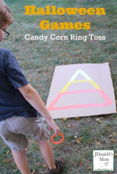 Halloween Games- Candy Corn Ring Toss