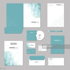 View top-quality illustrations of Stationery Template Design Corporate Identity Business Set. Corporate Stationary, Stationary Branding, Corporate Identity Design, Stationary Design, Brand Identity Design, Branding Design, Identity Branding, Visual Identity, Game Design