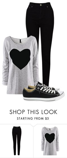 """Untitled #5"" by mziecellerino ❤ liked on Polyvore featuring EAST and Converse"