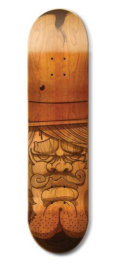Another stunning skateboard illustration, a sketchy cowboy #Illustration #Skateboard @kendrickkidd