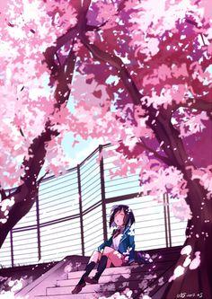 「桜の下で」/「U35■1日目東ラ30b」のイラスト [pixiv]