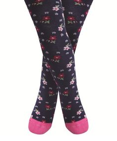 Look what I found on #zulily! Navy Floral Tights - Infant, Toddler & Girls #zulilyfinds