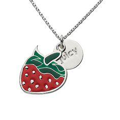 Strawberry Chain Necklace #kidsjewelry #kidsjewels #juicy #charmnecklace