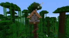 How To Build A Cool Treehouse In Minecraft