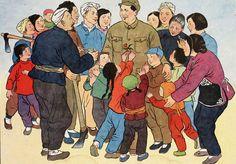 Chairman Mao Visits A Peasants Village