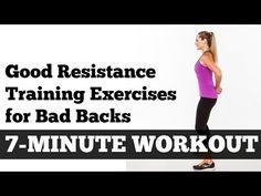 ▶ Good Resistance Training Exercises for Bad Backs: 7-Minute Workout - YouTube