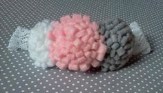 Soft Pink Grey & White Lace Headband by micahandco on Etsy, $7.00
