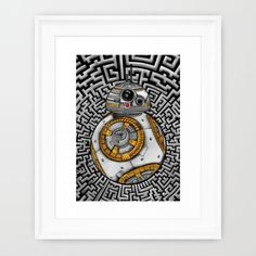Aztec BB8 BB-eight droid robot iPhone 4 4s 5 5c 6, pillow case, mugs and tshirt @society6 #artprint #artdesign #frameart #canvasprint #aztec #bb8 #droid #robot #hansolo #leia #skywalker #trooper #starwars