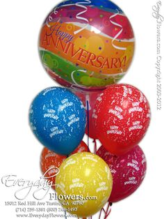 Anniversary Bubble Balloon by Everyday Flowers